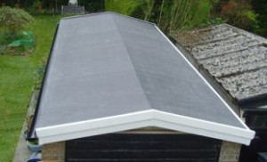 Install a ridge vent to a garage roof!