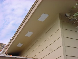Installing soffit vents in a garage