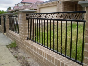 Decorative steel tube and black aluminum fences