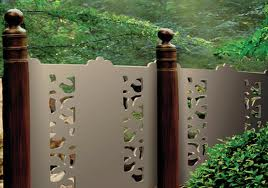 Make decorative fences with tree branches