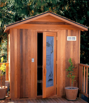 Açık sauna binası hazırlanması ve vakıf