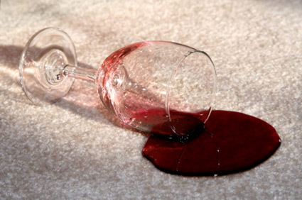 Remove wine stains from clothes