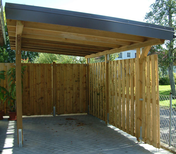 Modifying a portable carport