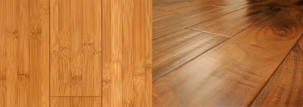Hardwood flooring vs. bamboo flooring