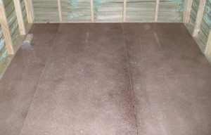 Ojämnt golv reparationer