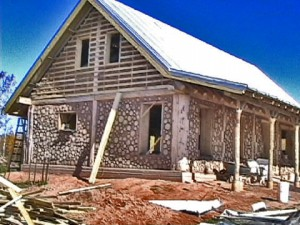 Building a cordwood house