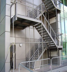 Steel staircase maintenance