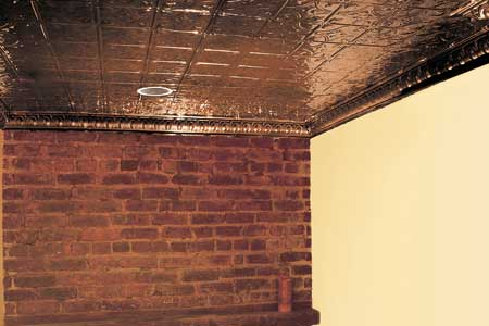 How to plan and install tin ceiling tiles