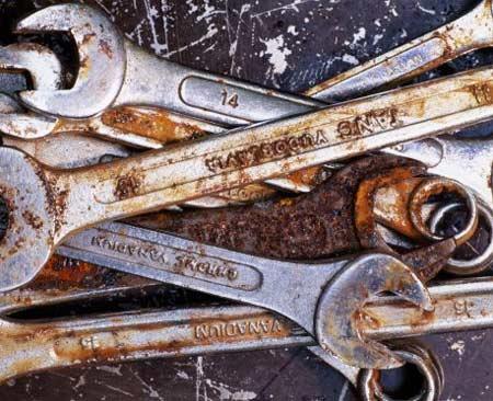 Fjerne rust fra verktøy