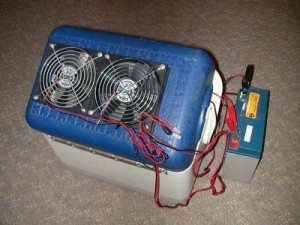 How to make an air conditioner out of a cooler