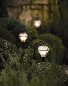 Installing a landscape lighting kit