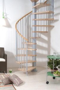 Size and steps for spiral staircases