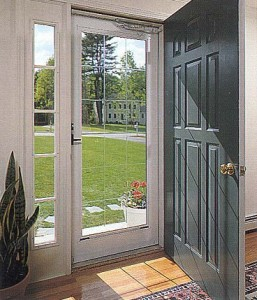 Replacing glass in storm doors