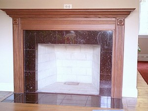 Fireplace mantle design