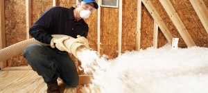 Installing a blown flat roof insulation