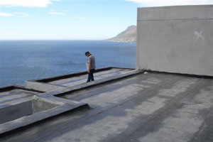 Building a flat concrete  roof