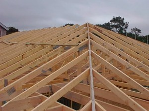 Secure roof trusses