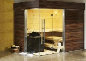 Sauna odasında Binası