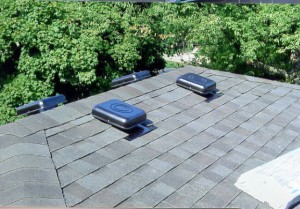 Installing steel roof vents