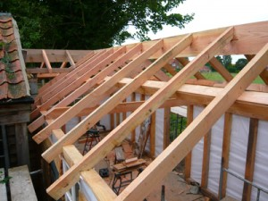 Framing a shed roof