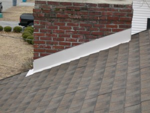 Installing clay tile roof flashings