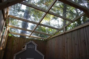 Roofing, Installing corrugated plastic roofing