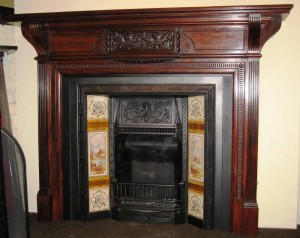About antique wood fireplaces