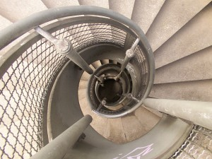 Σπείρα σκάλα σχέδιο σε έναν προϋπολογισμό
