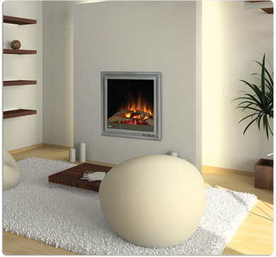 Electric fireplaces come in