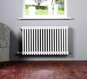 Installing a central heating radiator