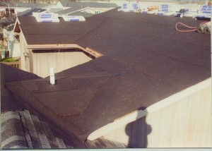 Installing roofing paper