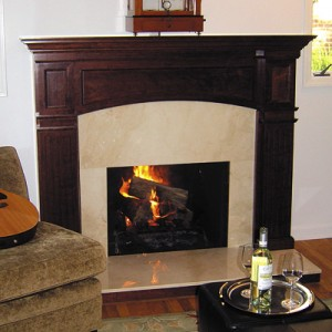 Fireplace sets with an antique look