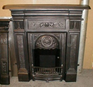 Gas fireplace with antique design