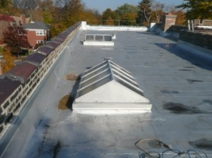 Installing a skylight in a flat roof