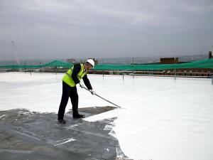 Afkoeling van een plat dak