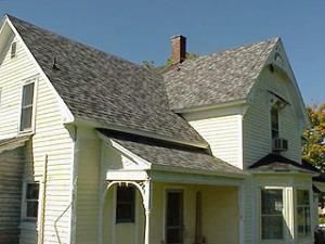 Shingling en veranda taket