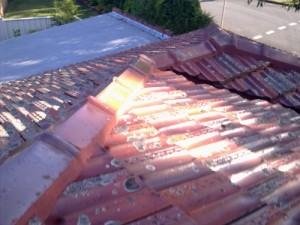 Vaihtaminen säröillä katto lippikset
