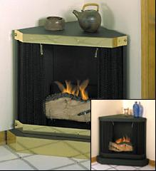 Ventless fireplaces for room corners