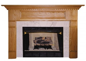 Fireplace mantels made from wood