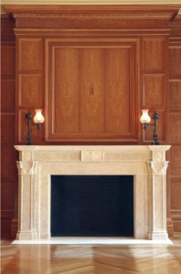 About double fireplace mantels