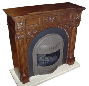 Fireplace, Mantel cabinets