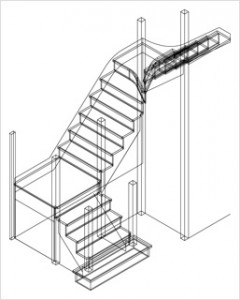 Dimensiones interiores escaleras