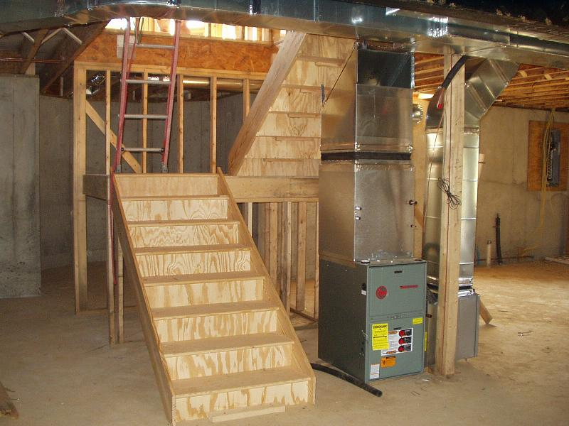 Build Stairs To Basement None Exist Building Construction DIY