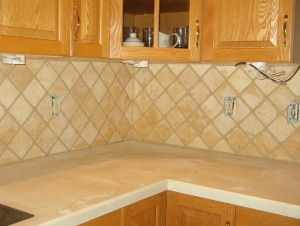 Pros and cons of tumbled marble back splash