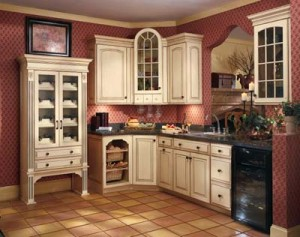 Gabinetes de cocina acristalamiento