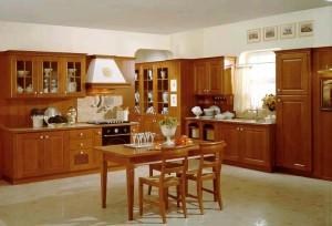 Προσαρμοσμένη ντουλάπια κουζίνας από ξύλο