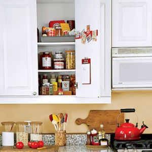 Organizing your kitchen cabinets
