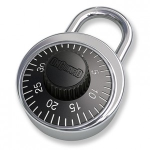 Guide for combination padlock
