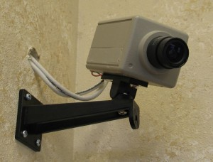 Casa de cámaras de vigilancia