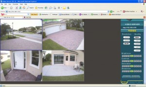 Remote viewing home security systems